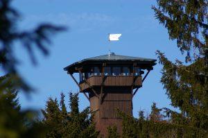 Böhmerwaldaussichtsturm bei Stadlern im Oberpfälzer Wald